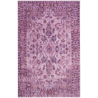 Esmeyer Oriental Purple Area Rug Rug Size: 9 x 12