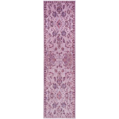 Jamaa Purple Area Rug Rug Size: Runner 2'3