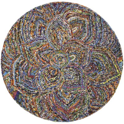 Anaheim Hand Tufted Cotton Area Rug Rug Size: Round 6 x 6