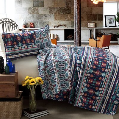 Zagora Cotton 3 Piece Reversible Coverlet Set Size: King