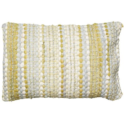 Moyer Cotton Lumbar Pillow Color: Yellow / Gray