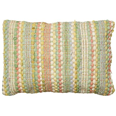 Moyer Cotton Lumbar Pillow Color: Jade Multi