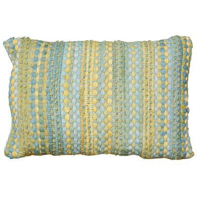 Moyer Cotton Lumbar Pillow Color: Blue / Yellow