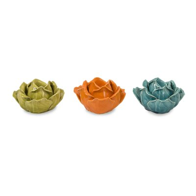 Mistana Ceramic Flower Candlestick Set MTNA2201 40415741