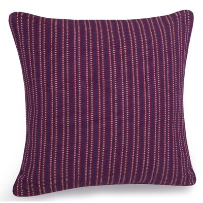 Mekka Hand Woven Cotton Pillow Cover Color: Plum