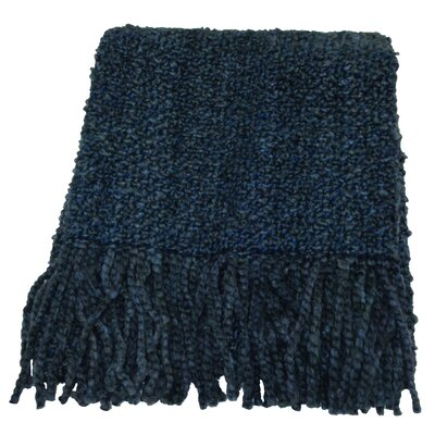 Adarissa Woven Throw Blanket Color: Bristol Blue