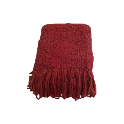 Adarissa Woven Throw Blanket Color: Scarlet