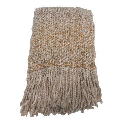 Keeler Woven Throw Blanket Color: Oatmeal