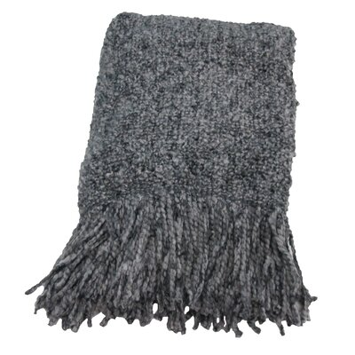 Keeler Woven Throw Blanket Color: Platinum