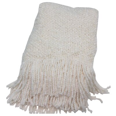 Keeler Woven Throw Blanket Color: Ecru