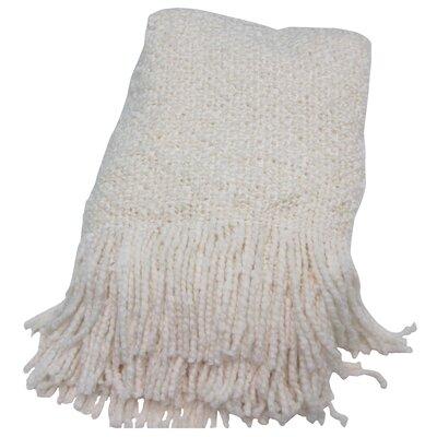 Adarissa Woven Throw Blanket Color: Ecru
