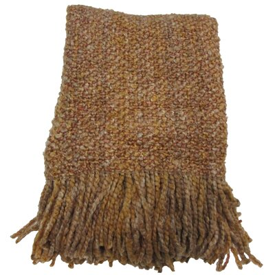 Adarissa Woven Throw Blanket Color: Ginger