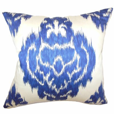 Maroc Ikat Cotton Throw Pillow Size: 18 H x 18 W