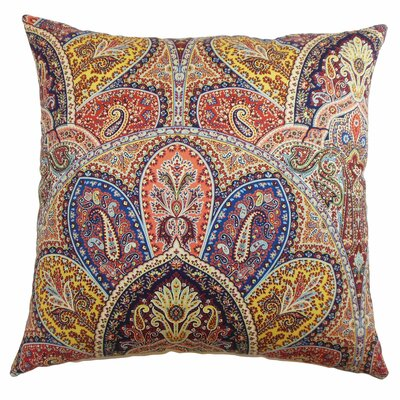 Madarisse Paisley Throw Pillow Color: Blue Multi, Size: 20 x 20