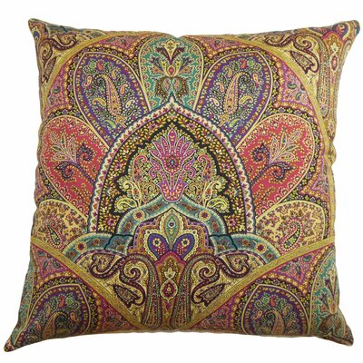 Madarisse Paisley Throw Pillow Color: Gemstone, Size: 18x18