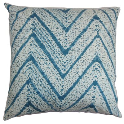 Camdyn Cotton Throw Pillow Color: Blue / Topaz, Size: 18 H x 18 W