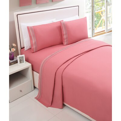 Daouha Sheet Set Color: Coral, Size: Full