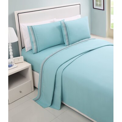 Daouha Sheet Set Color: Light Blue, Size: Full