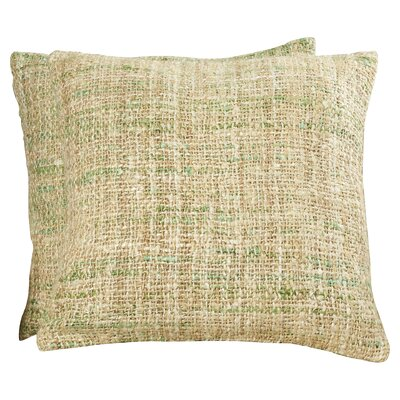 Emerystone Silk Throw Pillow Color: White Spring