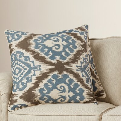 Drury 100% Cotton Throw Pillow Size: 22 H x 22 W, Color: Powder Blue