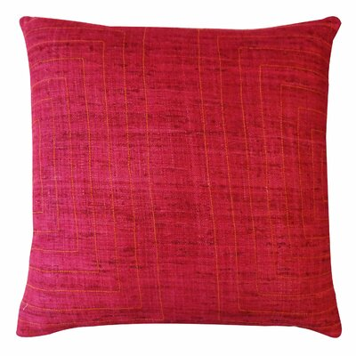 Mabrouka Silk Throw Pillow Color: Maroon