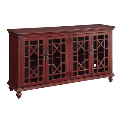 TV Stand Finish: Enson Textured Red