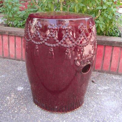 Lahjar Drum Ceramic Garden Stool