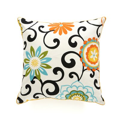 Santio Cotton Throw Pillow Color: Sky