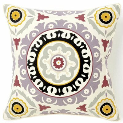 Portobello Road Henna Cotton Throw Pillow Color: Lilac, Size: 20 H x 20 W