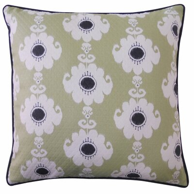 Haitam Outdoor Throw Pillow Color: Green