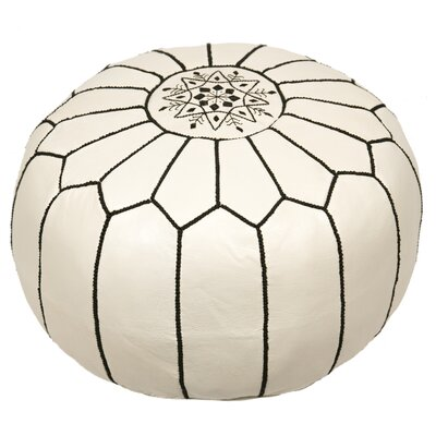 Clarkdale Pouf Upholstery: Black on White