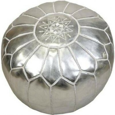 Clarkdale Pouf Upholstery: Silver