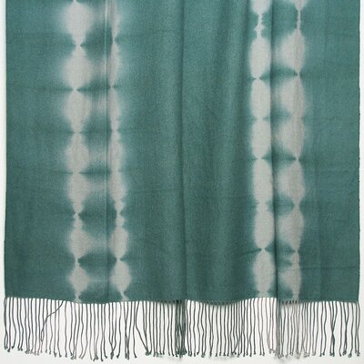 Essebtine Tye-Dye 2-Ply Throw Blanket Color: Aqua