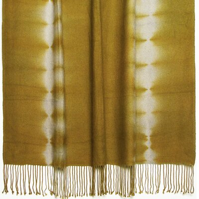Essebtine Tye-Dye 2-Ply Throw Blanket Color: Marigold