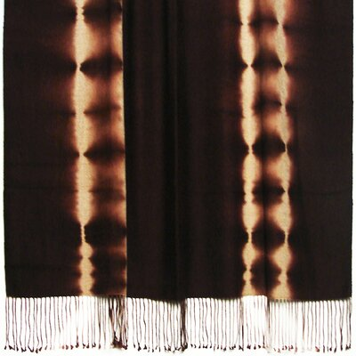 Essebtine Tye-Dye 2-Ply Throw Blanket Color: Chestnut