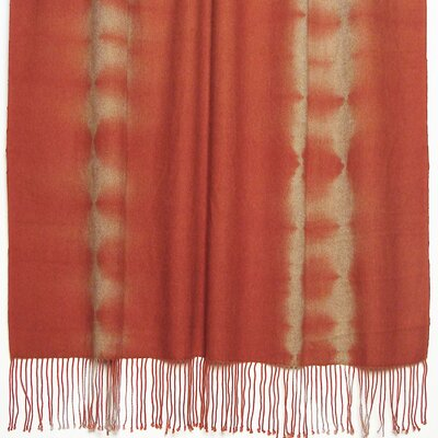 Essebtine Tye-Dye 2-Ply Throw Blanket Color: Tomato