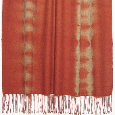 Essebtine Tye-Dye 2-Ply Throw Blanket Color: Tomato