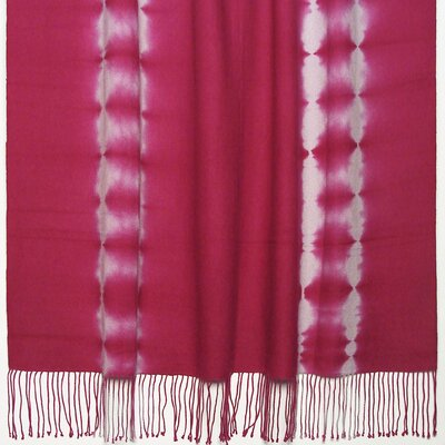 Essebtine Tye-Dye 2-Ply Throw Blanket Color: Fuchsia
