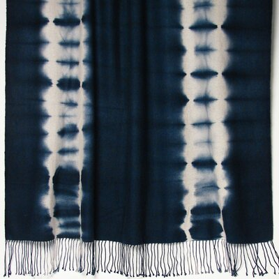 Essebtine Tye-Dye 2-Ply Throw Blanket Color: Indigo