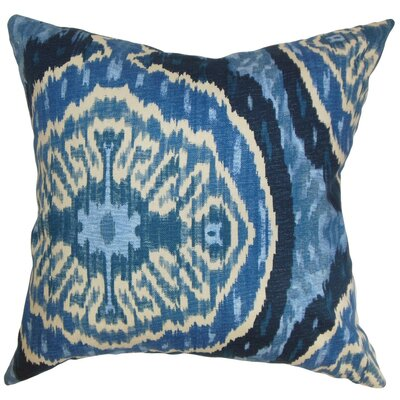 Boumehdi 100% Cotton Throw Pillow Size: 18x18