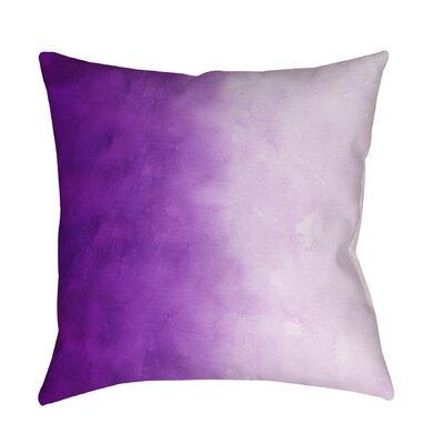 Doukala Printed Throw Pillow Color: Purple, Size: 16 H x 16 W x 4 D