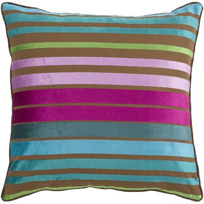 Radad Sparkling Stripe Throw Pillow Size: 18, Color: Blue, Filler: Down