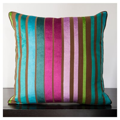 Radad Sparkling Throw Pillow Size: 18, Color: Teal/Beige/Brown, Filler: Polyester