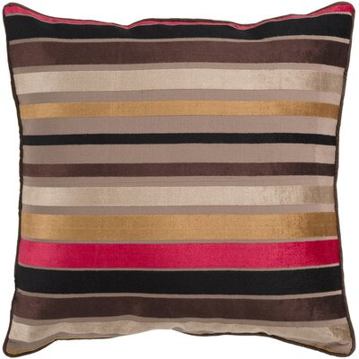 Radad Sparkling Stripe Throw Pillow Size: 22