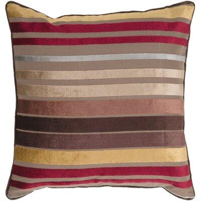 Radad Sparkling Stripe Throw Pillow Size: 18, Color: Brown, Filler: Down