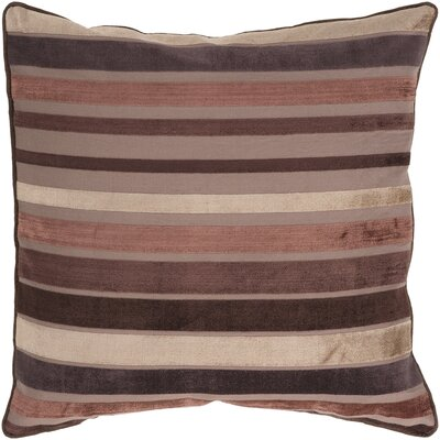 Radad Sparkling Throw Pillow Size: 18, Color: Beige Brown/Light Brown/Dark Brown, Filler: Down