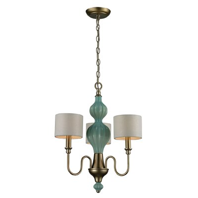 Asloune 3-Light Shaded Chandelier