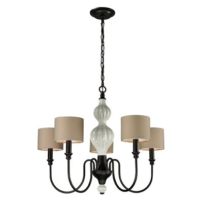 Dormert 5-Light Shaded Chandelier