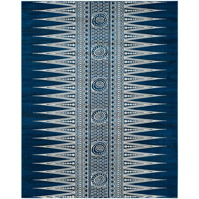 Elson Royal/Ivory Area Rug Rug Size: Rectangle 8 x 10