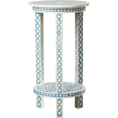 Brock Traditional Bone Inlay End Table